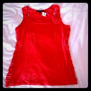 NWT Cynthia Steffe Poppy tank top w/ side ruching
